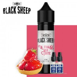 La Fraise Qui Tarte 42ml 2 boosters black sheep