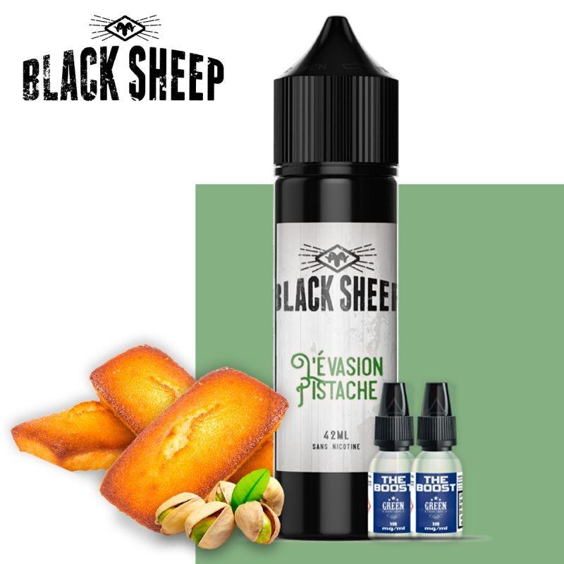 L'Evasion Pistache 42ml deux boosters black sheep