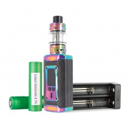 Pack Complet Kit Morph 2 TFV18 + 2 Accus 3000 mAh  + Chargeur d'accus MC2 - XTAR Rainbow